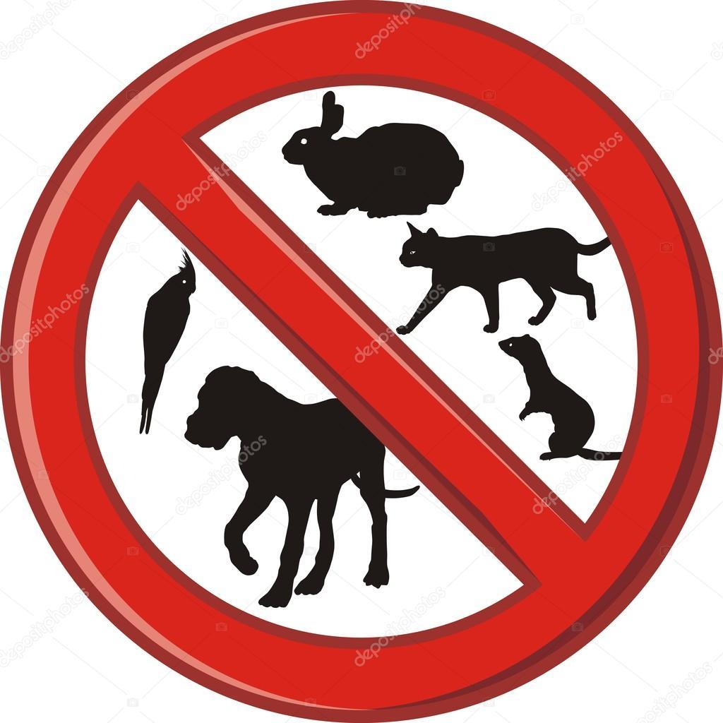 Afbeeldingsresultaat voor huisdieren niet toegestaan
