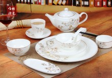 工厂直销批发价高温陶瓷酒店包厢摆台套装盘子汤碗牛排盘西式餐具