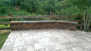 Travertines tone patio