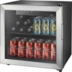 Insignia™ - 48-Can Beverage Cooler - Stainless steel/Silver - Angle