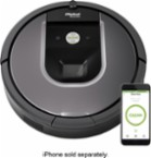 iRobot - Roomba 960 App-Controlled Self-Charging Robot Vacuum - Gray - Larger Front
