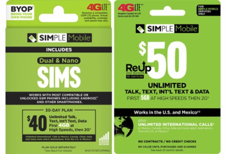 Cell phone, SIM kit, refill card
