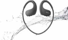 Sony - Walkman NW-WS413 4GB* Wearable MP3 Player - Black - Larger Front