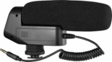 Insignia™ - On-Camera Powered Shotgun Microphone - Larger Front