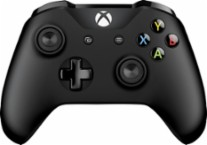 Microsoft - Xbox Wireless Controller - Black - Larger Front