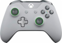Microsoft - Xbox Wireless Controller - Gray and Green - Larger Front
