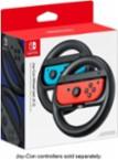 Nintendo - Joy-Con Wireless Wheel (set of 2) for Nintendo Switch - Black - Larger Front