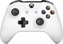 Microsoft - Geek Squad Certified Refurbished Xbox Wireless Controller - White - Larger Front