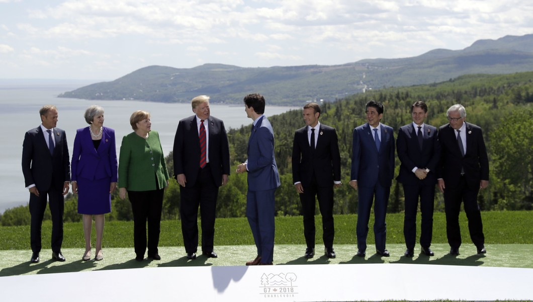 Trump with G-7 leaders