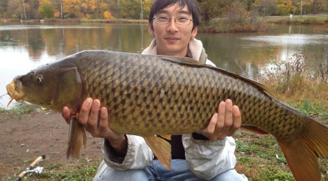 Zach M. Holding a BIG NJ Carp.