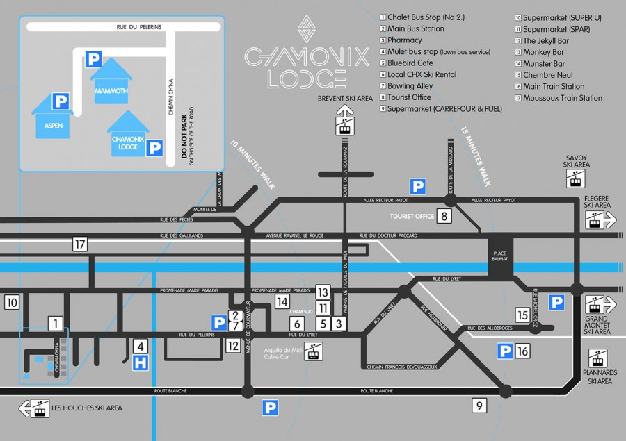 Chamonix Lodge map