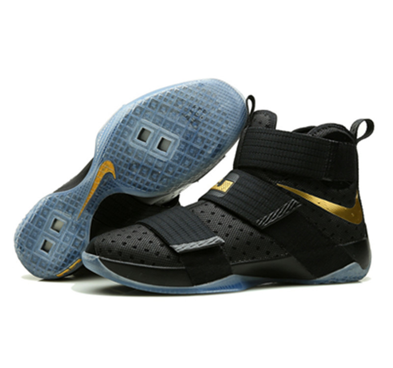 Nike Lebron Soldier 10 X Shoes black gold