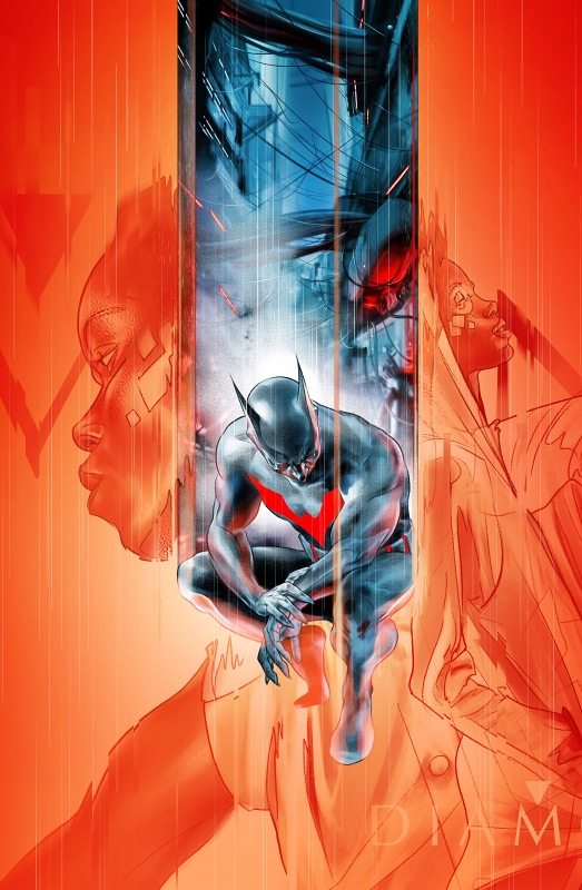 Variant cover art by Martin Ansin for DC Comic's 'Batman Beyond: Rebirth' series
