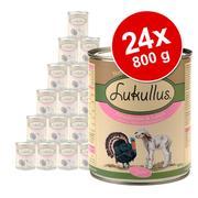 Økonomipakke Lukullus Junior 24 x 800 g - Fjerkræ & vildt (kornfri)