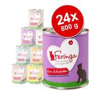 Økonomipakke: 24 x 800 g Feringa Menu Duo - Kylling & ørred