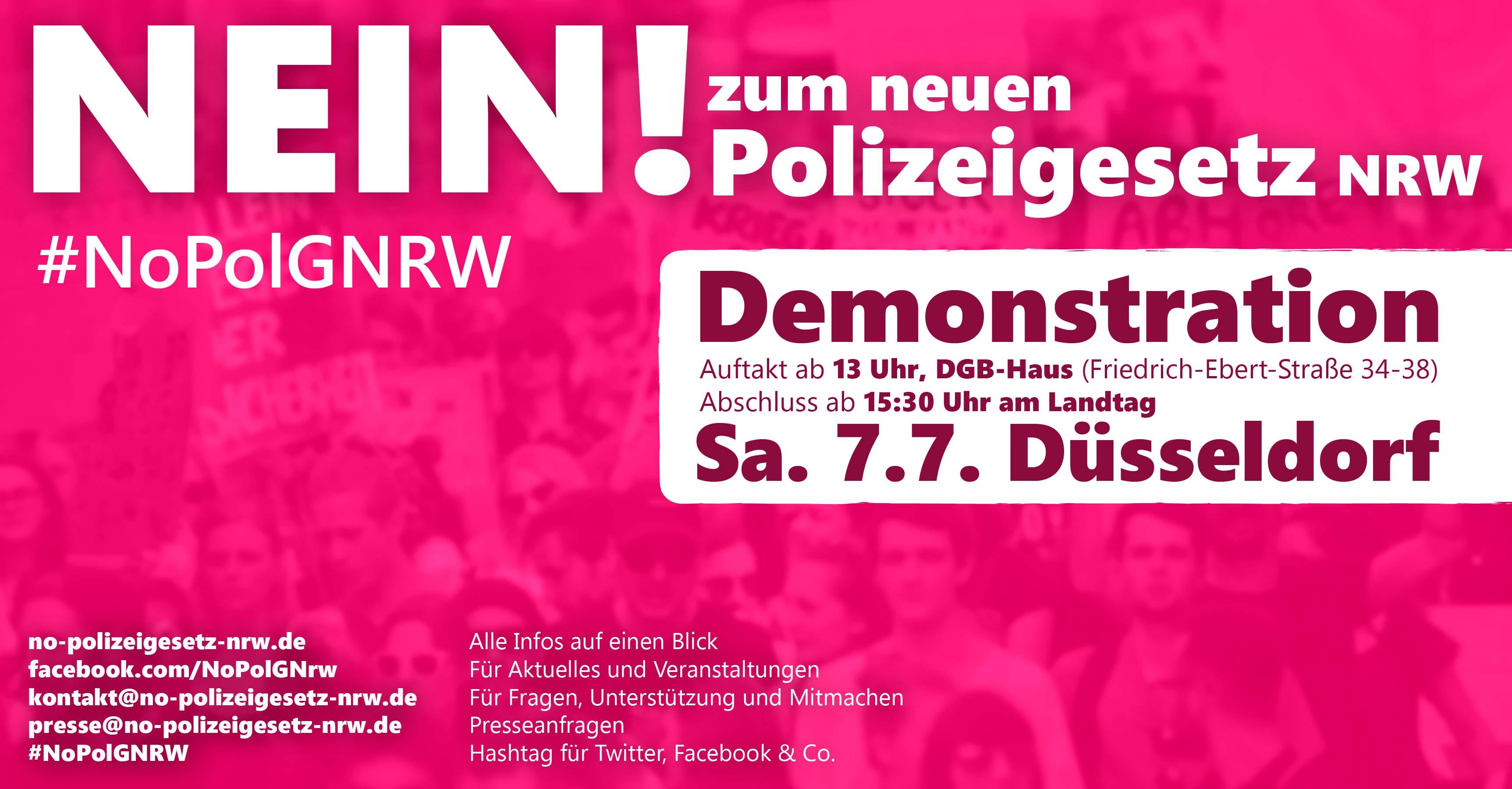 [Plakat: Nein zum neuen Polizeigesetz NRW]