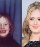 """Throwing it way back with this! Thank you for all the love, I am so blown away. X #TBT"" Adele shared a throwback photo"