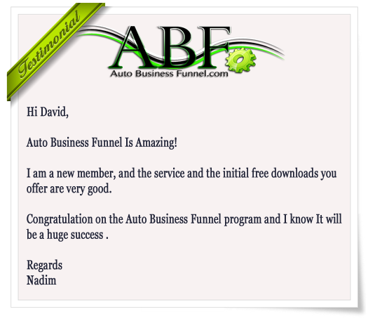 Auto Business Funnel Testimonial