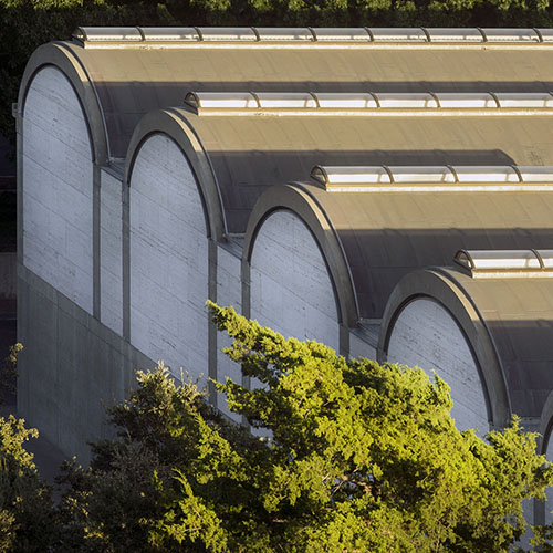 Nic Lehoux's image of the Kimbell Art Museum's barrel vaults.