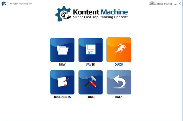Kontent machine dashboard