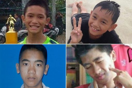 The four rescued boys are said to be very hungry after their ordeal