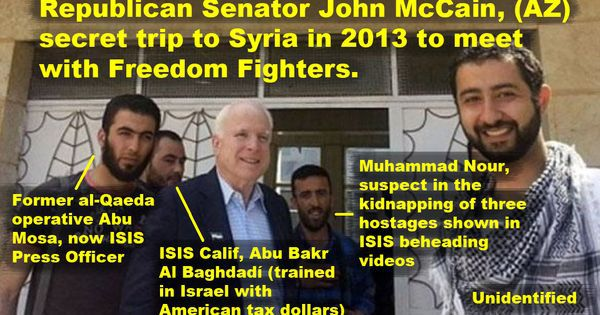 Image result for john mccain with isis