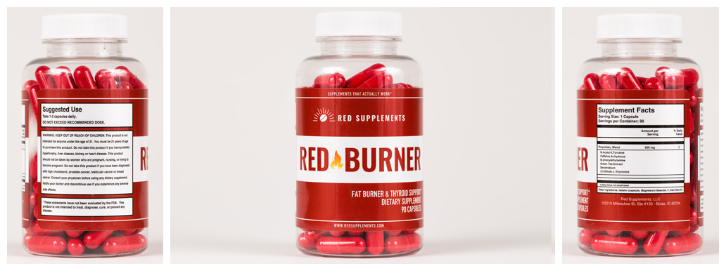 Red Burner product packaging