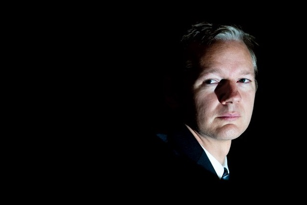 Assange has been in the Ecuadorian embassy in London for six years (Credit: Ki Price)