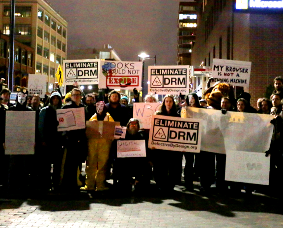 protest against DRM