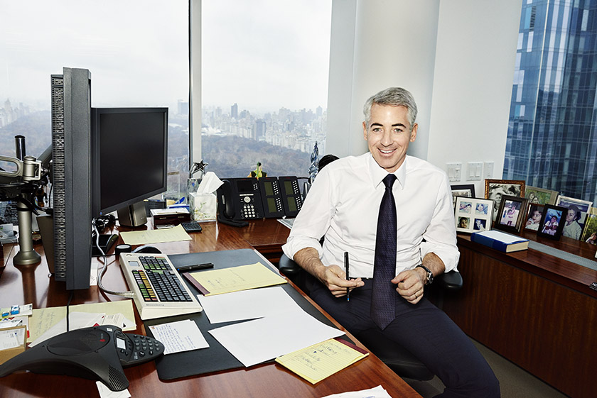 Bill Ackman, seen in his Manhattan office in 2014, has averaged 21% net returns since 2004 in his Pershing Square fund.