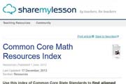 Share My Lesson: Common Core Math Resources Index
