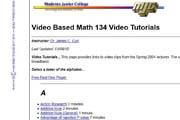 Video Based Math 134 Video Tutorials