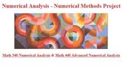 Numerical Analysis and Numerical Methods Project
