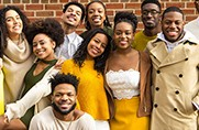 Members of the Black Student Alliance pose together.