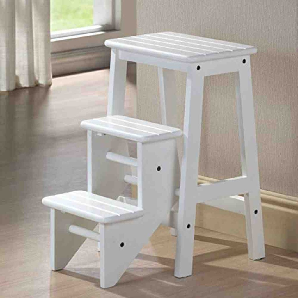 Image of: Folding Kitchen Step Stool with Seat