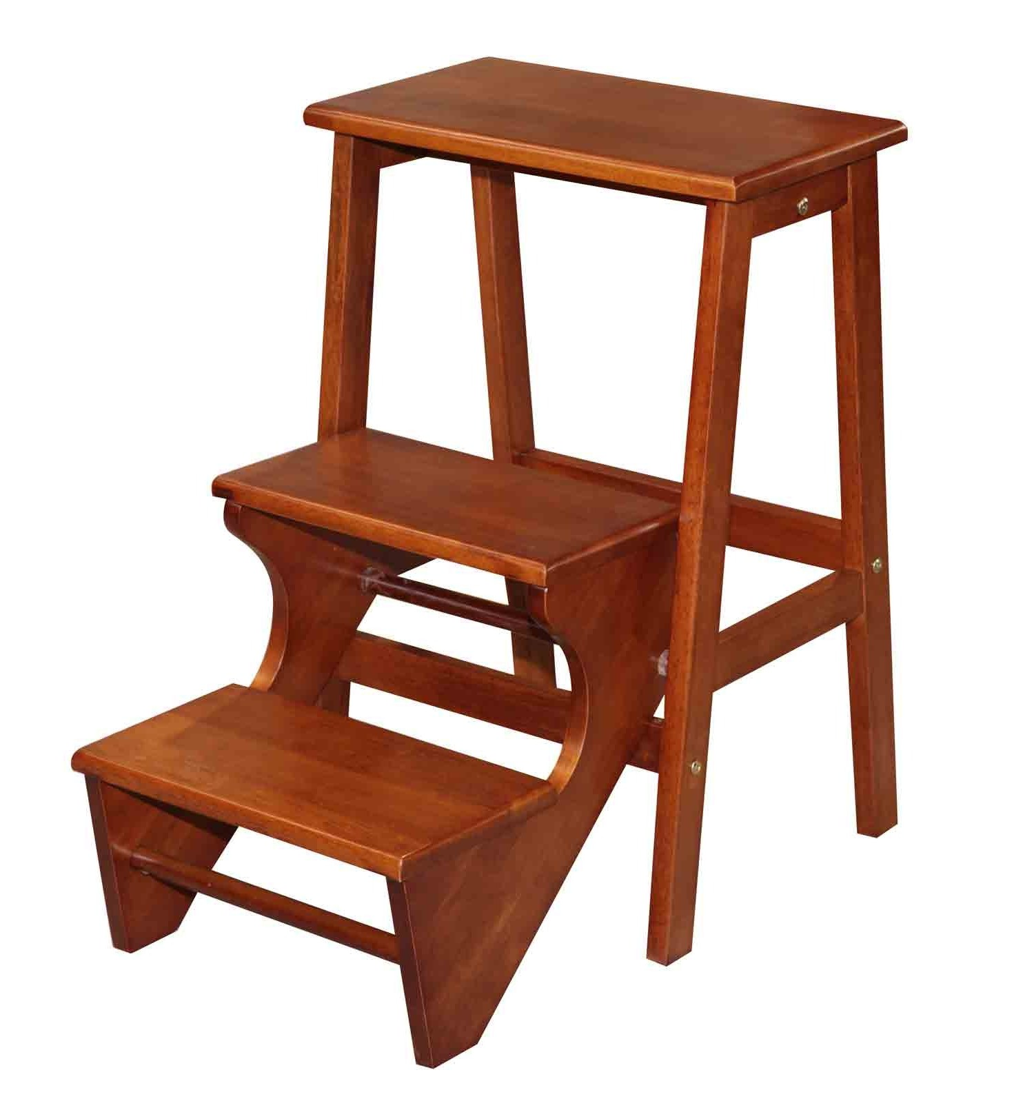 Image of: Wooden Kitchen Step Stools