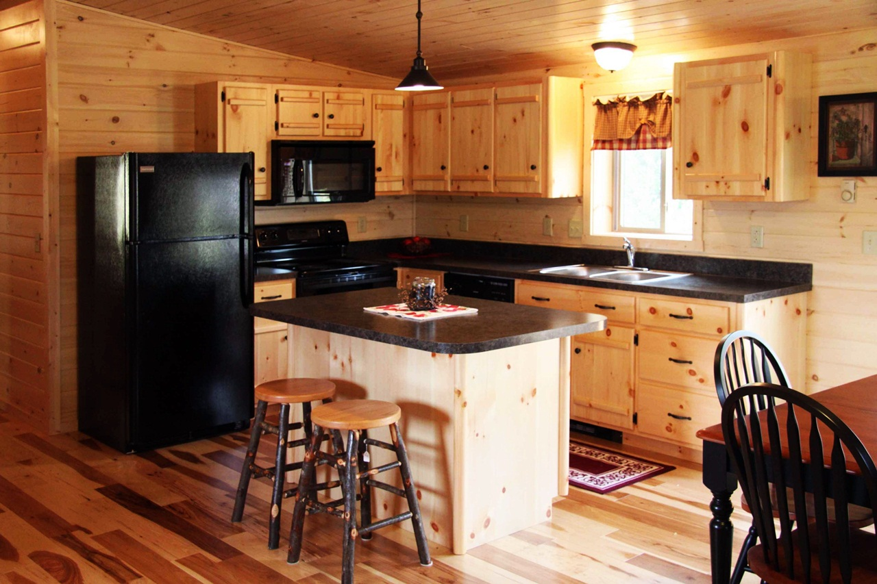 Image of: Picture of Hickory Kitchen Cabinets