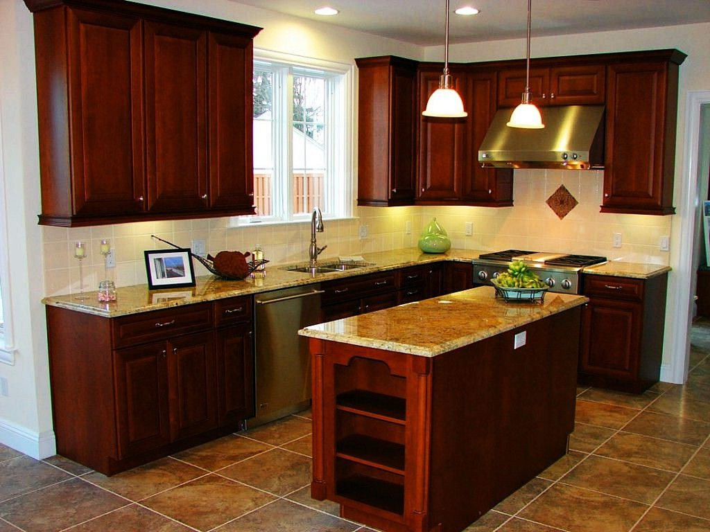 Image of: Staining Kitchen Cabinets Pictures