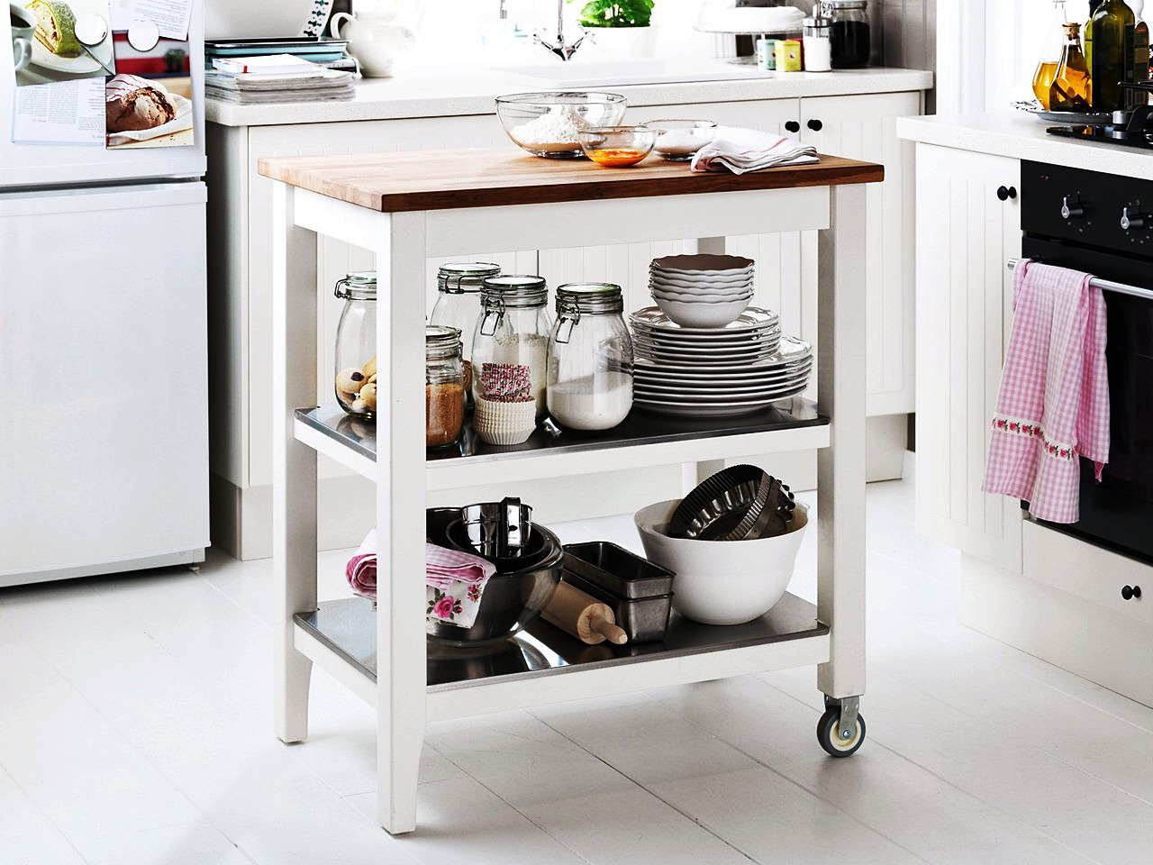 Image of: Rolling Kitchen Island Ikea