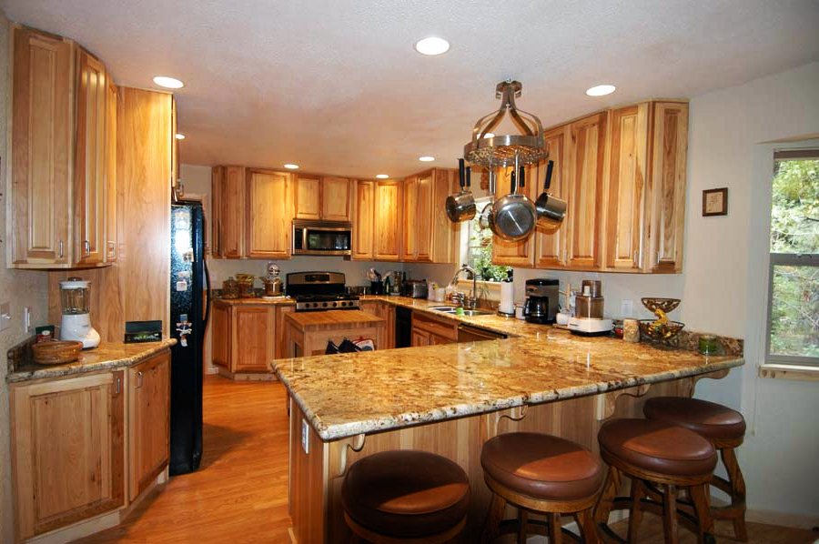 Image of: Hickory Kitchen Cabinets Picture