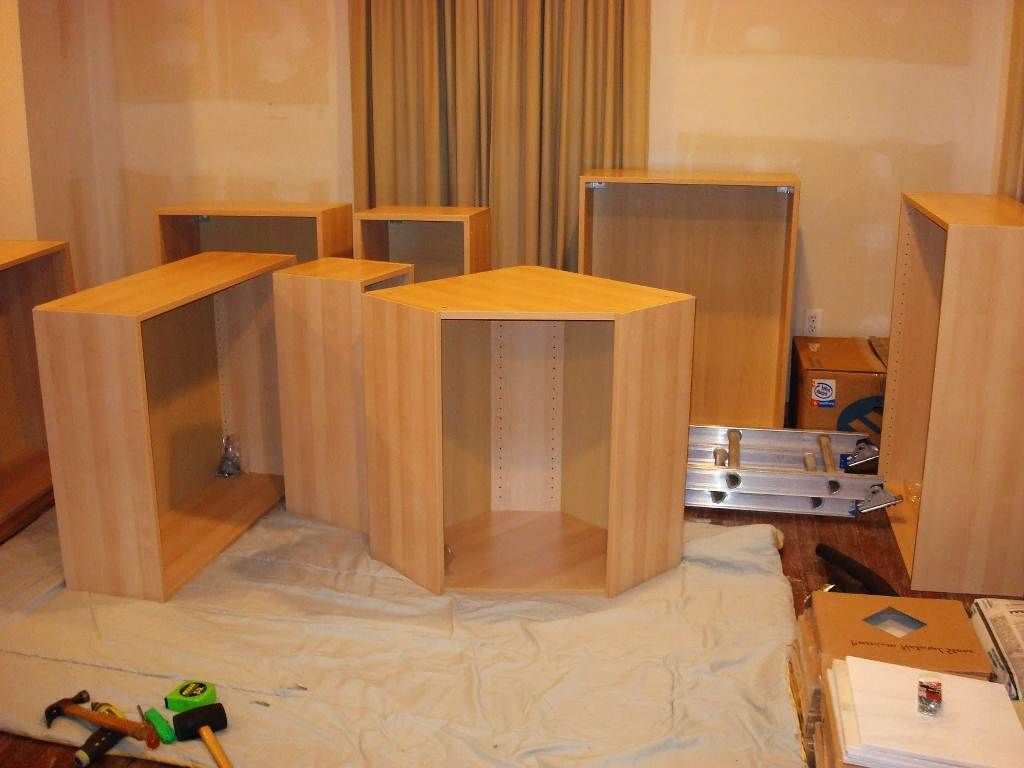 Image of: Unfinished Kitchen Cabinets Without Door