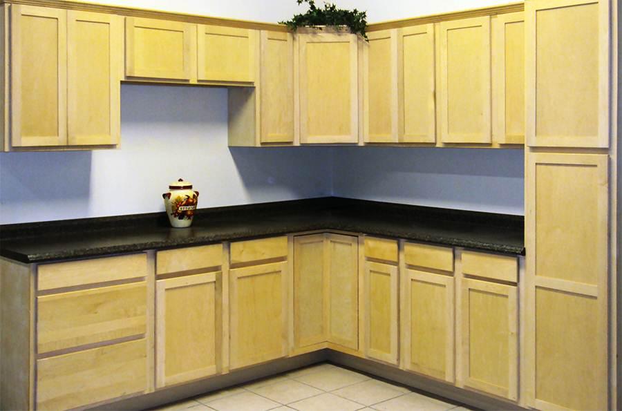 Image of: Unfinished Wood Kitchen Cabinets