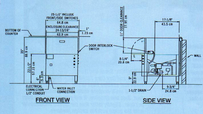 Image of: Commercial Dishwasher Parts