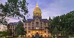7.12.16 Main Building Dusk.JPG by Matt Cashore/University of Notre Dame