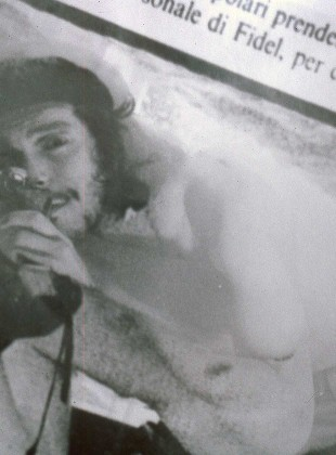 Self portrait as Ernesto Guevara 1993, double exposure c-type print