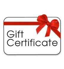 Woodcarving Gift Certificates