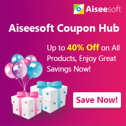 Aiseesoft Software Promo - Up to 40% Off on All Software!