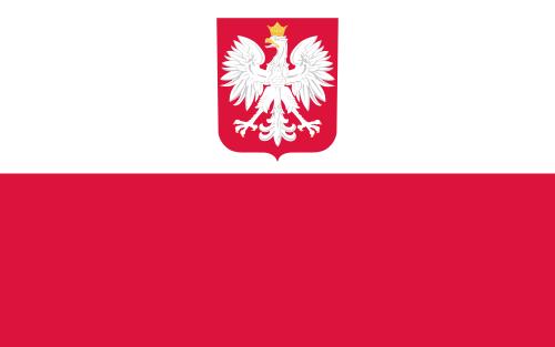 flaga Polski z godłem państwowym, bandera handlowa, flaga z herbem RP, flaga placówek zagranicznych Rzeczypospolitej Polskiej, symbole narodowe, Ministerstwo kultury i Dziedzictwa Narodowego