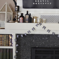 Halloween Mantel Makeover