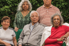 group of diverse older people